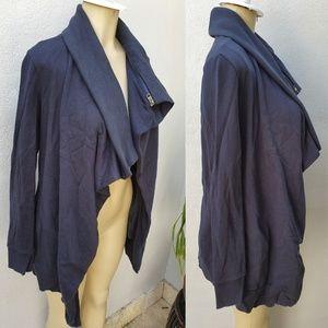 All Saints Daliha Sweat Cotton Jacket with Zipper